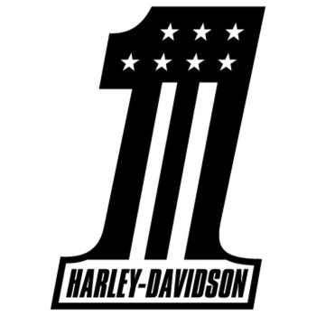 Harley Davidson One Decal 2