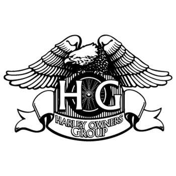 Sticker Harley Davidson Owners Group aigle royal, autocollant découpé. Couleur au choix. ★