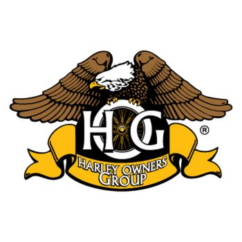 Sticker Harley Davidson Owners Group, aigle, impression en couleurs ★
