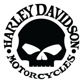 Sticker Harley Davidson Skull