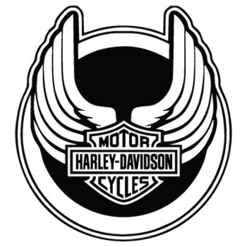 Harley Davidson Wings Decal