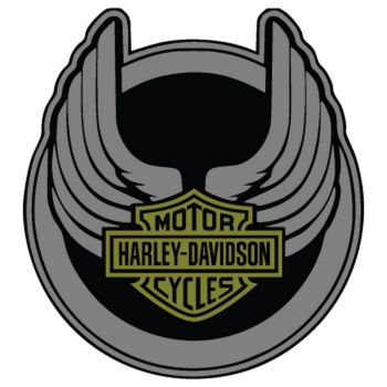 Harley Davidson Wings Decal 3