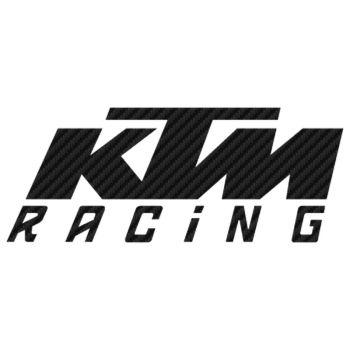 KTM Racing Carbon Decal