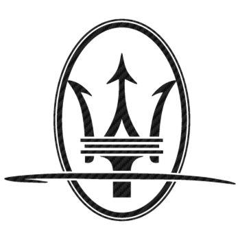 Maserati Tridente Carbon Decal