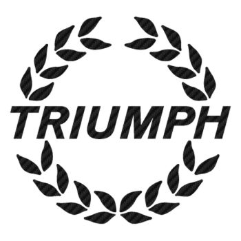 Sticker Carbone Triumph 4