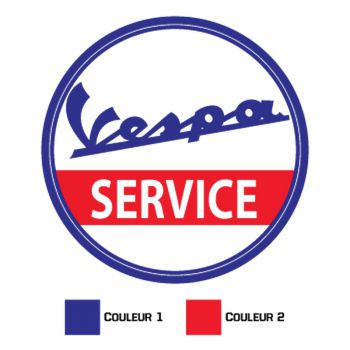 Sticker Vespa Service