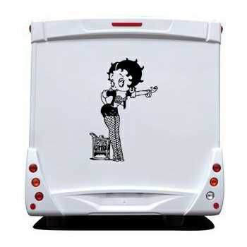 Betty Boop Camping Car Decal 3