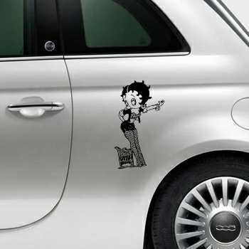 Betty Boop Fiat 500 Decal 3
