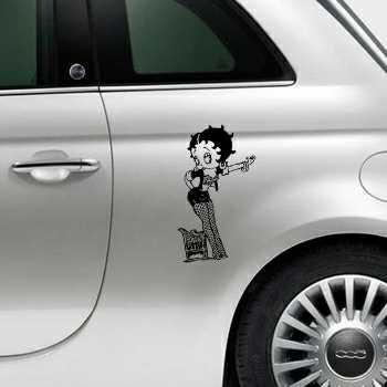 Sticker Fiat 500 Betty Boop 3