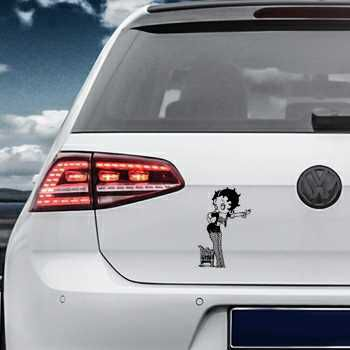 Betty Boop Volkswagen MK Golf Decal 3