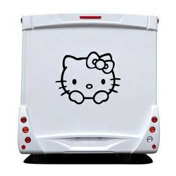 Sticker hello kitty camping car