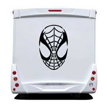 Sticker Camping Car Masque Spider