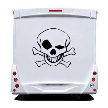 Skull Camping Car Decal 3