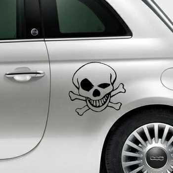 Skull Fiat 500 Decal 3