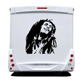Sticker Camping Car Bob Marley