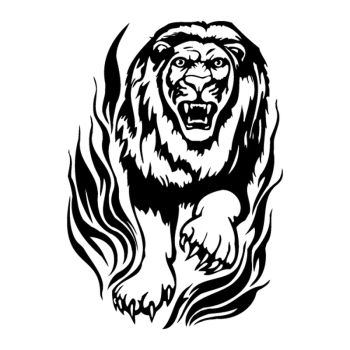 Flame Lion decal