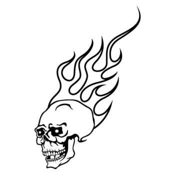 Skull In Flame decal