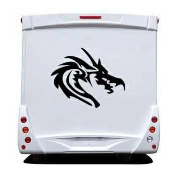 Extreme Dragon Camping Car Decal