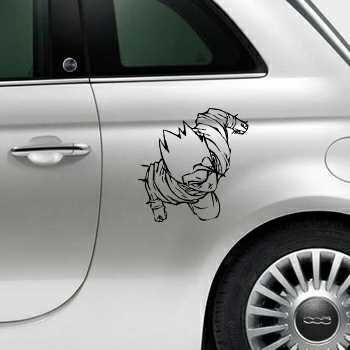 Dragon Ball Z Fiat 500 Decal