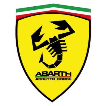 Sticker Fiat Abarth Assetto Corse dans l'Écusson Ferrari