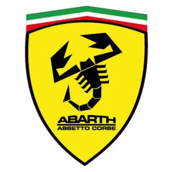 Fiat Abarth assetto corse Ferrari Logo Logo decal model 4