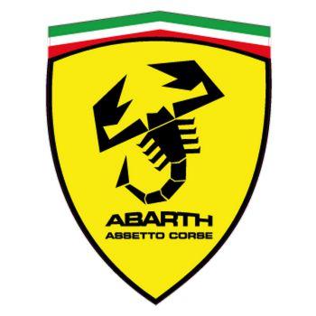 Sticker Fiat Abarth Assetto Corse dans l'Écusson Ferrari  Modèle 5