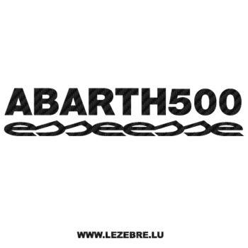 Fiat Abarth 500 Esseesse Carbon Decal