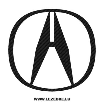 Acura Logo Carbon Decal