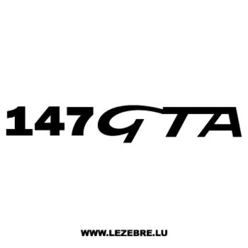 Sticker Alfa Romeo 147 GTA