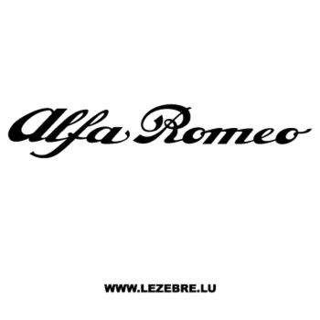 Alfa Romeo Decal 2