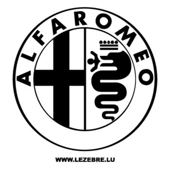 Alfa Romeo Logo Decal 2