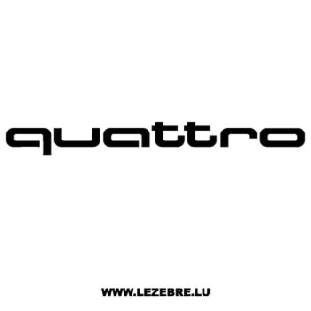 Sticker Audi Quattro