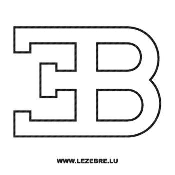 Sticker Carbone Bugatti