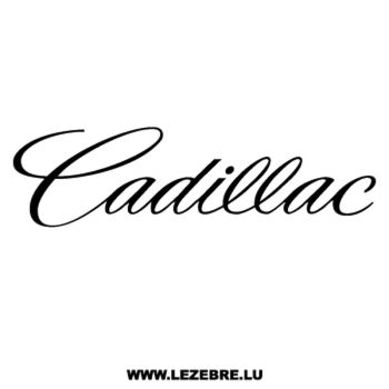 Cadillac Decal