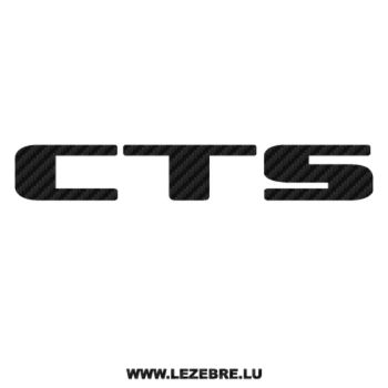 Sticker Cadillac CTS Carbone 3M