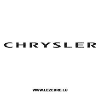 Chrysler Carbon Decal