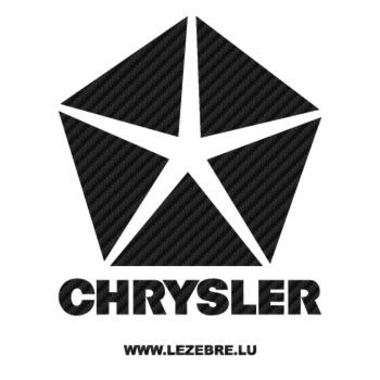 Sticker Carbone Chrysler Logo 5