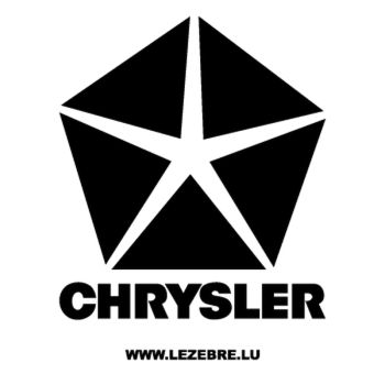 > Sticker Chrysler Logo 5