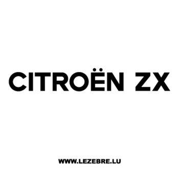 Sticker Citroën ZX