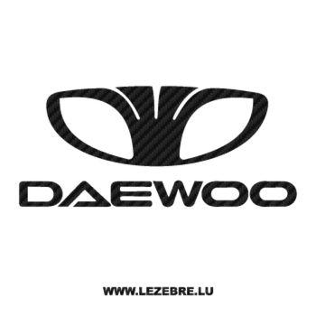 Daewoo Logo Carbon Decal