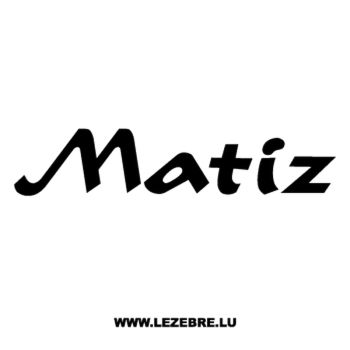 Sticker Daewoo Matiz