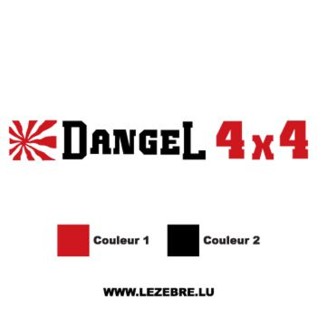 Sticker Dangel 4x4