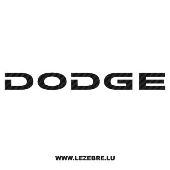 Dodge Carbon Decal