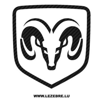 Dodge Logo Carbon Decal 2