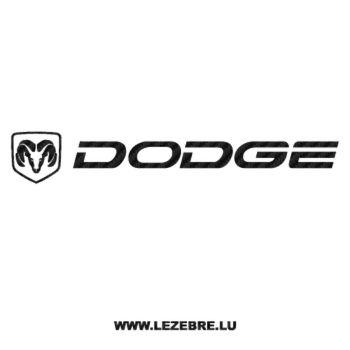 Dodge Logo Carbon Decal 3