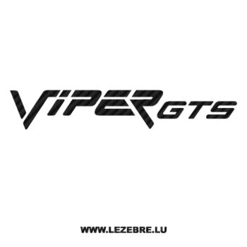 Dodge Viper GTS Carbon Decal