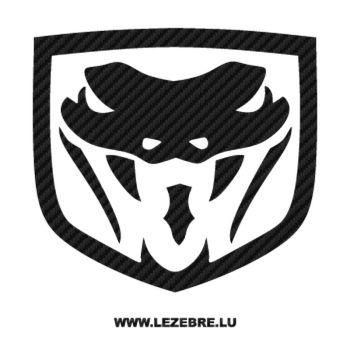Dodge Viper Logo Carbon Decal