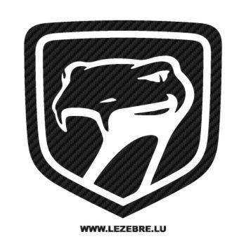 Dodge Viper Logo Carbon Decal 2