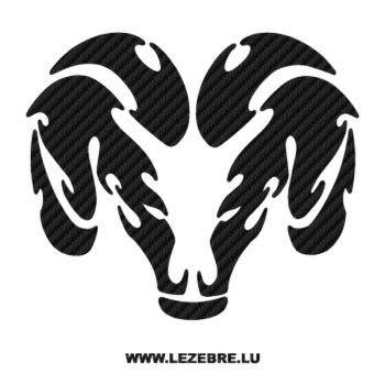 Dodge Viper Logo Carbon Decal 3