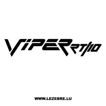 Dodge Viper RT 10 Decal